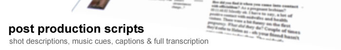 transcription, logging, translation and subtitling services for the media industry